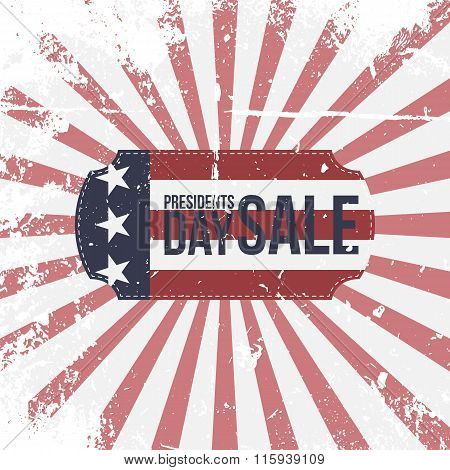 Presidents Day Sale vector greeting Banner
