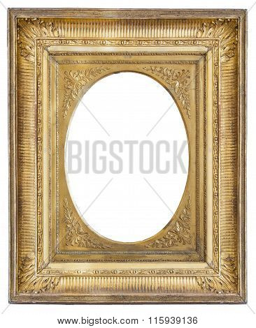 Gilded Antique Frame With Vignette
