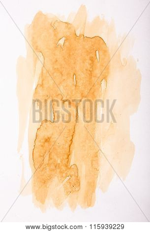 Texture Of Coffee Stain On White Paper
