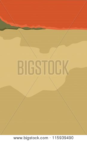 Abstract Mountain Background Illustration