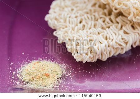 noodles with flavoring color background