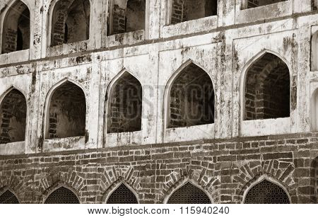 Architecture of historic Golconda fort in Hyderabad ,India