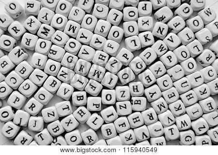 white letters background