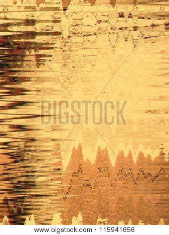 Abstract retro background with glitch effect