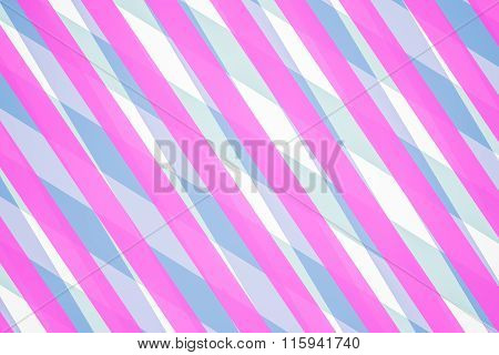 Blue And Pink Computer Generated Abstract Geometric Pattern