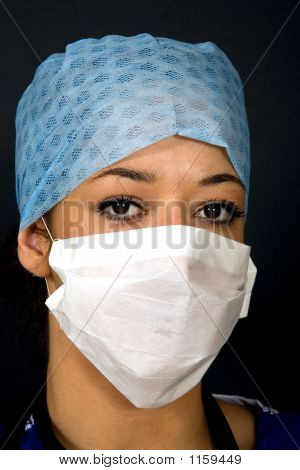 Head Shot Of A Doctor / Surgeon / Nurse.