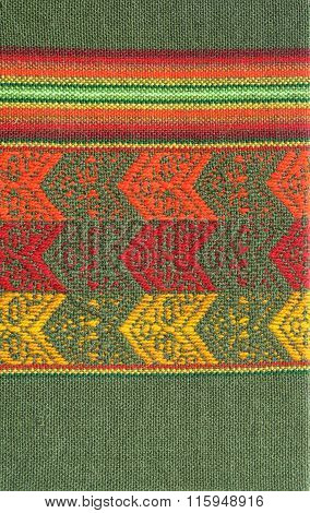 South America Indian textile pattern as background