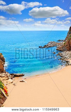 Tossa de Mar Codolar beach platja in Costa Brava of Catalonia Spain