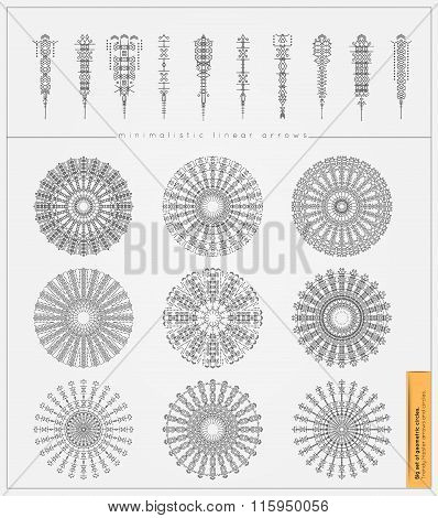 Big Set of minimal geometric monochrome shapes