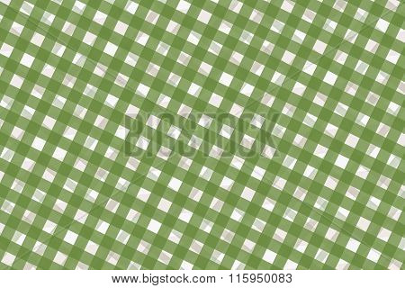 Green And White Computer Generated Abstract Plaid Pattern
