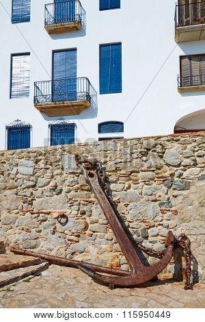 Calella de Parafrugell in Costa Brava of Girona at Catalonia Spain white facades
