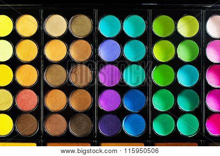 Colorful Makeup Palette With Makeup Brush,color Filter
