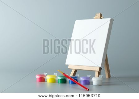 Painting Easel With Empty Canvas