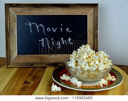 Bowl of popcorn for movie night
