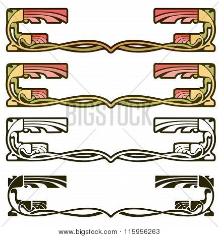 Arts And Crafts Style Border Element