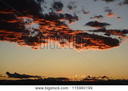 Dark Orange Clouds