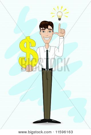 Businessman And Profitable Idea