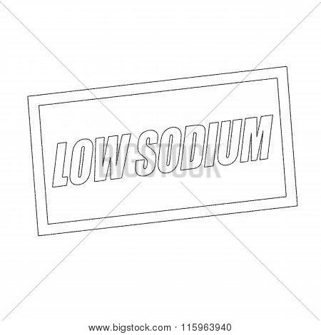 Low Sodium Monochrome Stamp Text On White