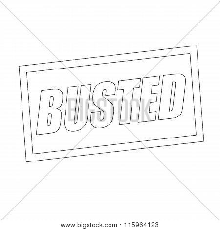 Busted Monochrome Stamp Text On White