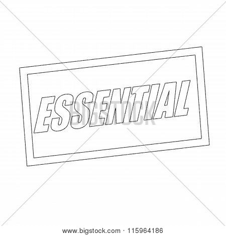 Essential Monochrome Stamp Text On White