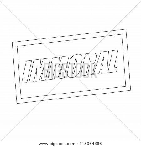 Immoral Monochrome Stamp Text On White