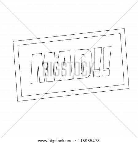 Mad Monochrome Stamp Text On White