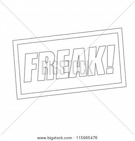 Freak Monochrome Stamp Text On White