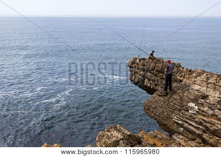 Fishing Along Rugged Coast