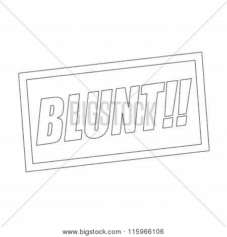 Blunt Monochrome Stamp Text On White