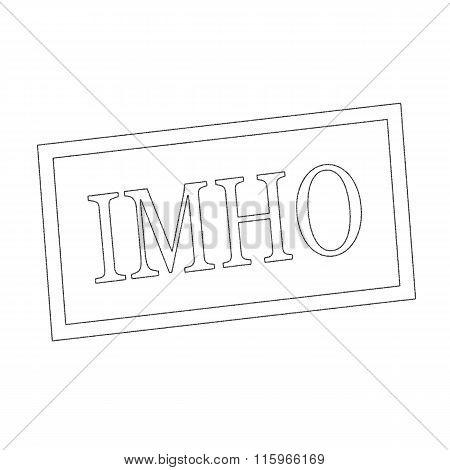Imho Monochrome Stamp Text On White
