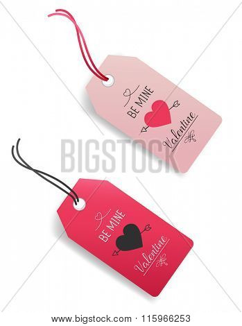 Valentine Gift Tags.Vector illustration