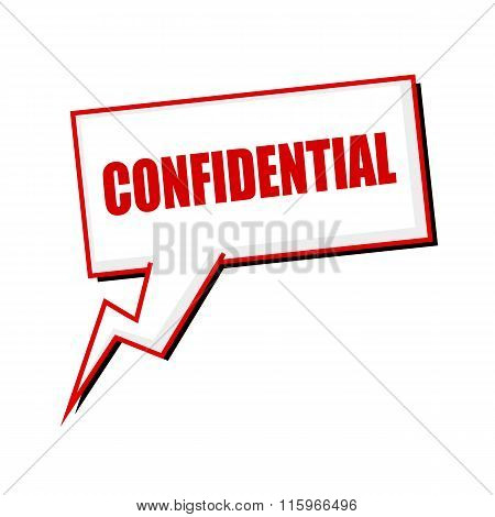 Confidential Red Stamp Text On White Speech Bubbles