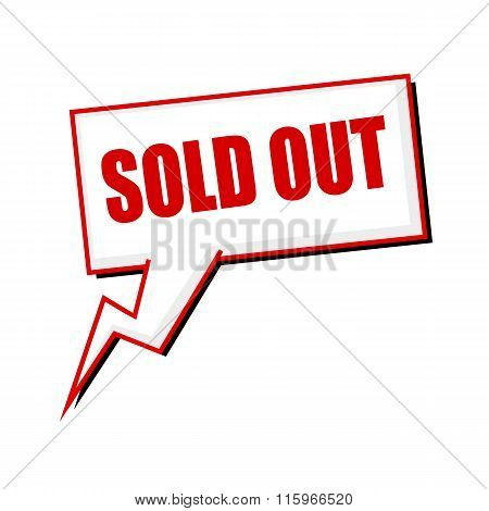 Sold Out Red Stamp Text On White Speech Bubbles