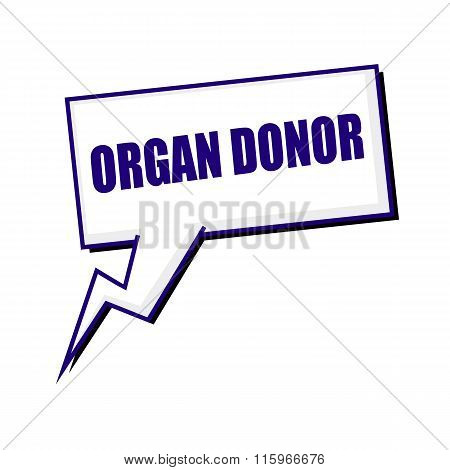 Organ Donor Blueblack Stamp Text On White Speech Bubbles