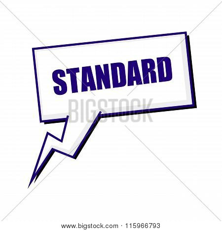 Standard Blueblack Stamp Text On White Speech Bubbles