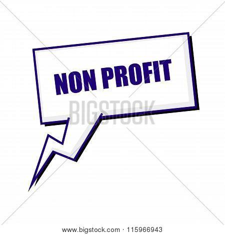 Non Profit Blueblack Stamp Text On White Speech Bubbles