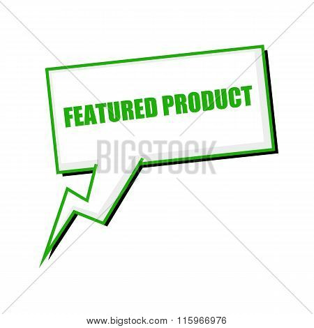 Featured Product Green Stamp Text On White Speech Bubbles