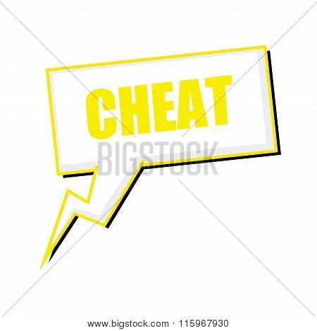 Cheat Yellow Stamp Text On White Speech Bubbles