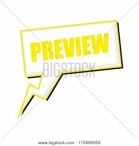 Preview Yellow Stamp Text On White Speech Bubbles