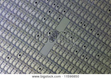 Detail Of A Silicon Wafer