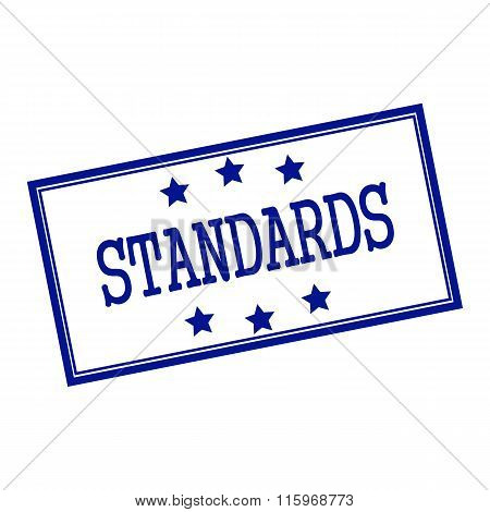 Standards Blue-black Stamp Text On Background White And Star