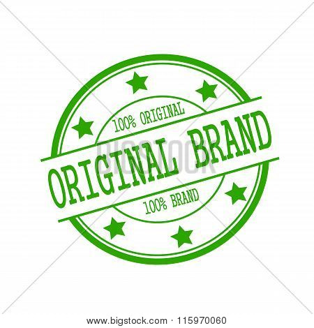 Original Brand Stamp Text On Green Circle On A White Background And Star