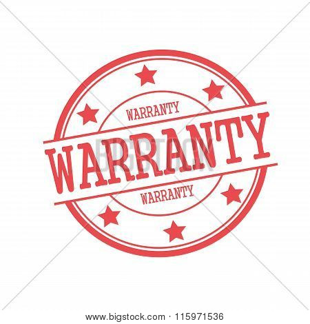 Warranty Red Stamp Text On Red Circle On A White Background And Star