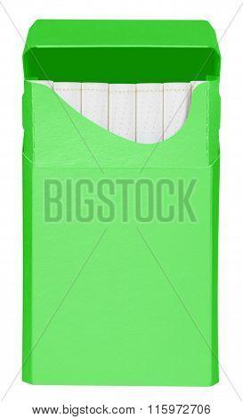 Cigarettes Box - Opened- Green