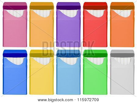 Cigarettes Box - Opened- Colorful