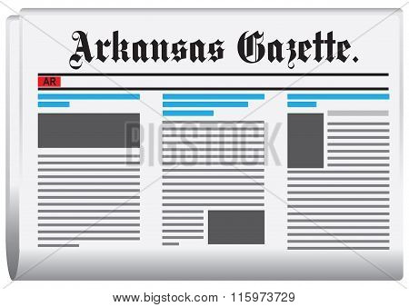 Abstract Newspaper Of Arkansas In The United States