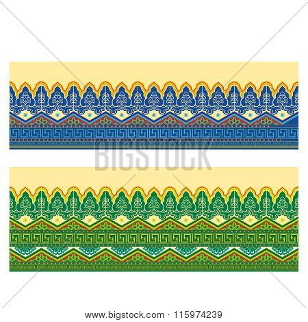 Vector Seamless Repeating Oriental Pattern Illustration