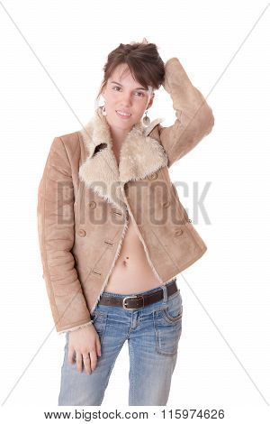 Girl In A Sheepskin Coat
