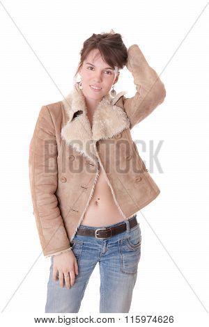 Girl In A Sheepskin Coat