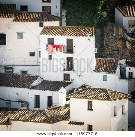 traditional little white houses Spanish village